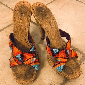 Gianni Bini beaded heels size 7